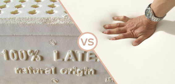 Latex vs memory foam image
